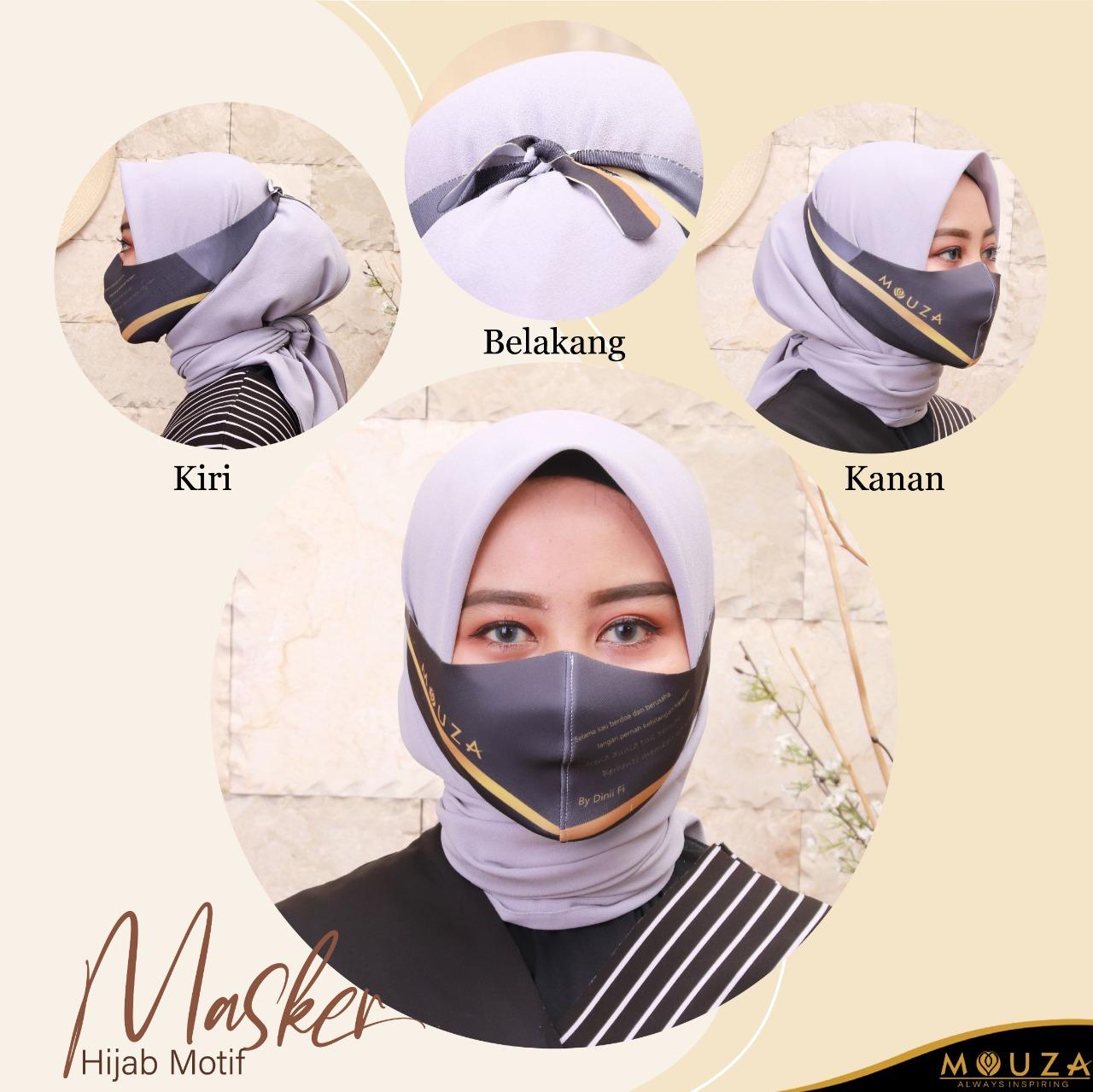 Masker Hijab Motif