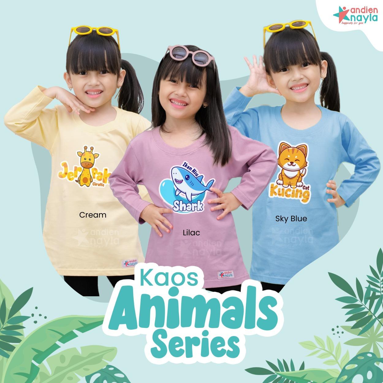 PO Kaos Animal Cat Panjang