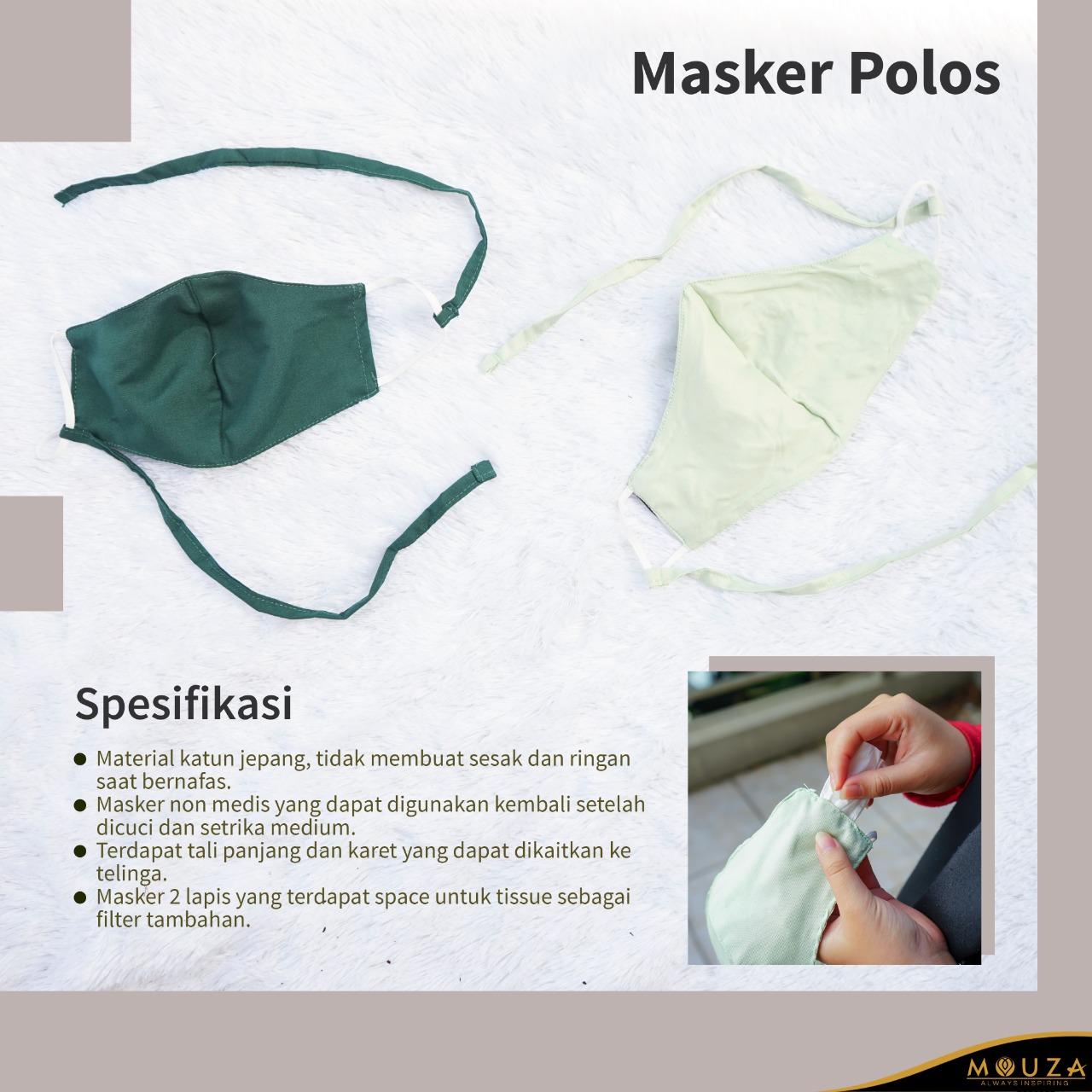 Masker Polos (Satuan)